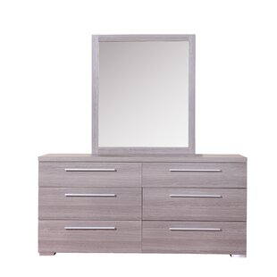 Kempst 6 Drawer Double Dresser
