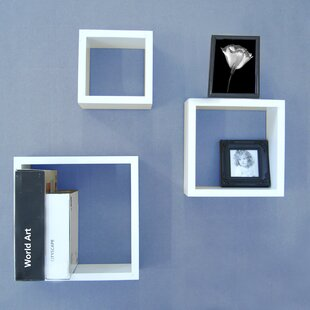 3 Piece Wall Cubes Set by Organize It All