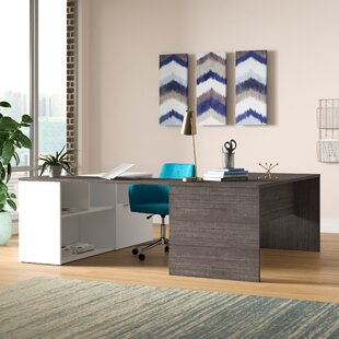Prattsburgh Reversible U-Executive Desk by Brayden Studio