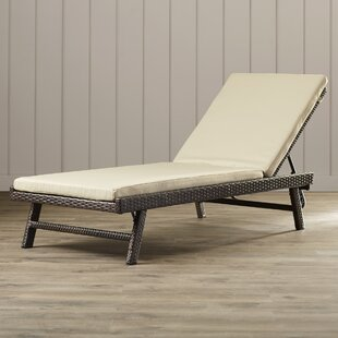 Beachcrest Home Calypso Chaise Lounge with Cushion