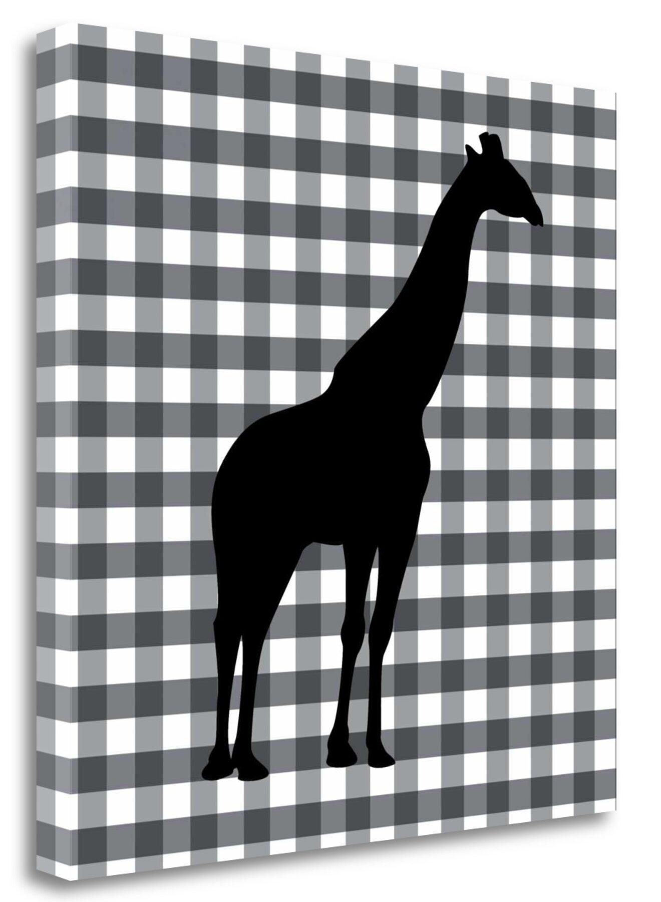 Tangletown Fine Art Giraffe Graphic Art Print On Wrapped Canvas Wayfair