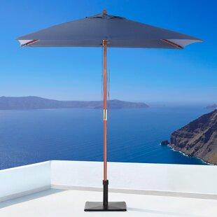 Pau 3.87' x 6.5' Rectangular Market Umbrella by Latitude Run