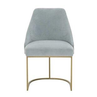 Lavaca Velvet Upholstered Dining Chair (Set of 2) by Everly Quinn