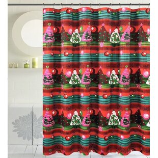 Bath Christmas Decorative Santa Hat Single Shower Curtain