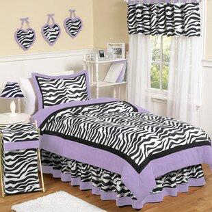 Sweet Jojo Designs Zebra Cotton Comforter Set