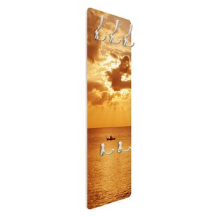 Tropical Sunset Wall Mounted Coat Rack By Symple Stuff
