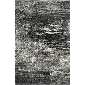 costa mesa black silverwhite area rug
