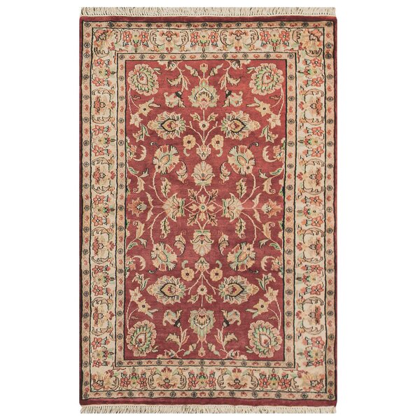 Bokara Rug Co Inc Jaipur Hand Knotted Wool Silk Rust Ivory Rug Wayfair