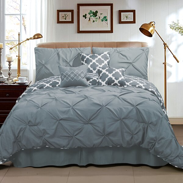 Sweet Home Collection Taylor 7 Piece Queen Comforter Set & Reviews by Sweet Home Collection