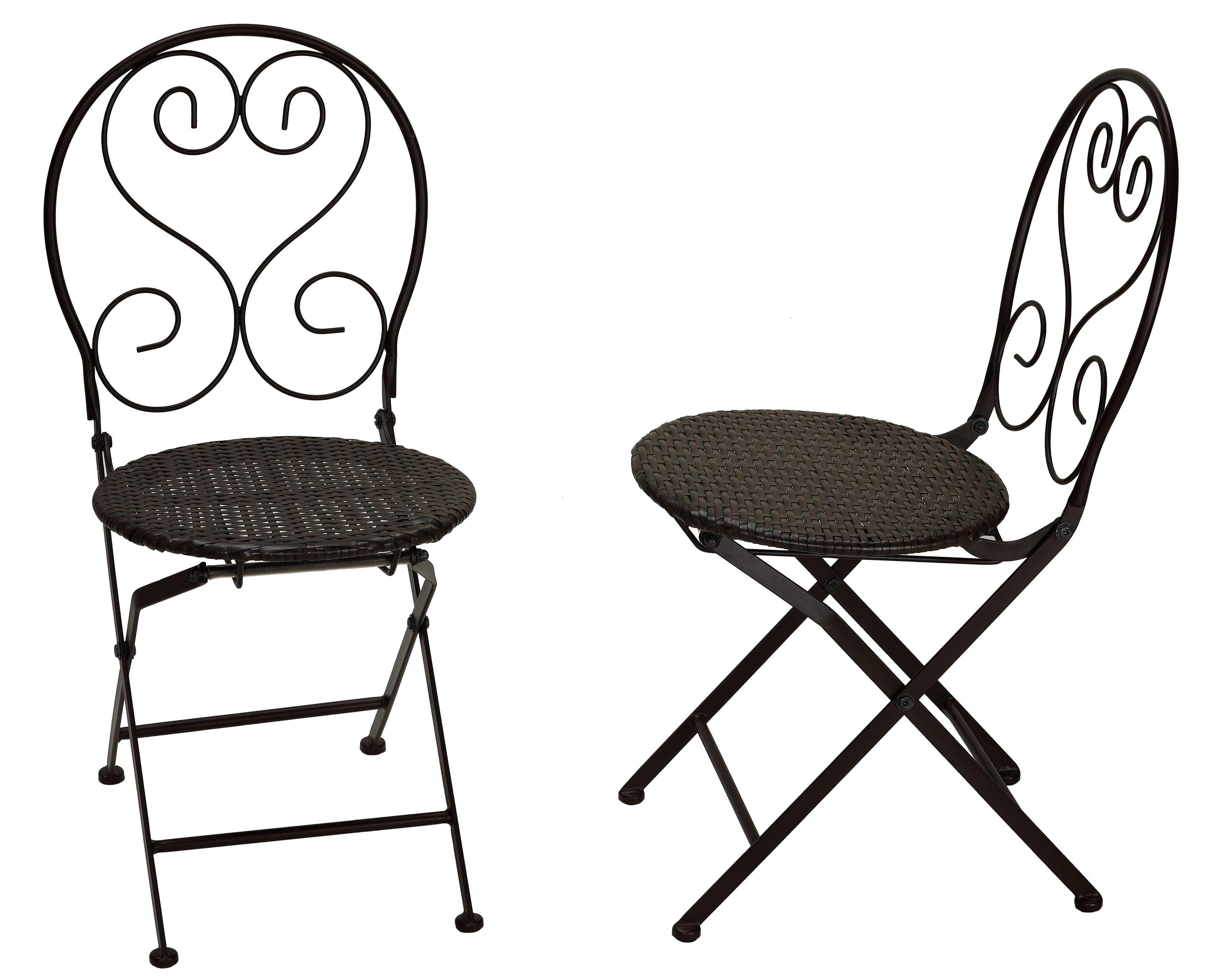 Peachy Hillesden Indoor Outdoor Metal Folding Patio Dining Chair With Wicker Bralicious Painted Fabric Chair Ideas Braliciousco