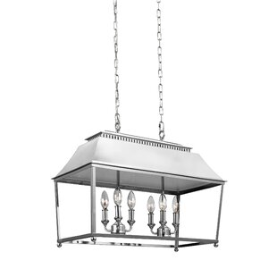 Gracie Oaks Darwin 6-Light Billiard Light