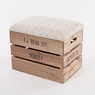Blue Ridge Elevated Storage Stool By August Grove
