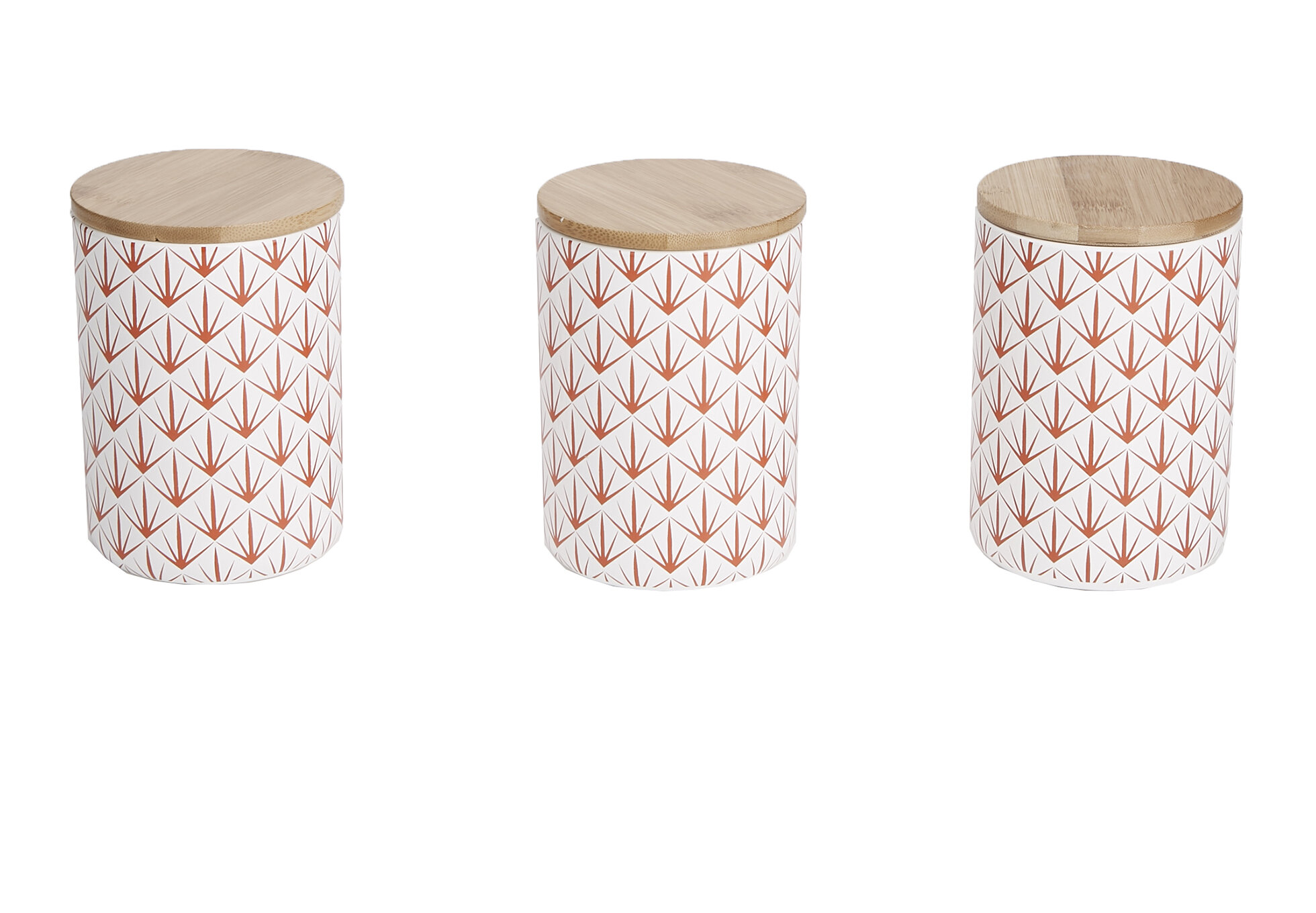 Mind Reader 3 Pc Medium Ceramic Canister Set With Lids Round