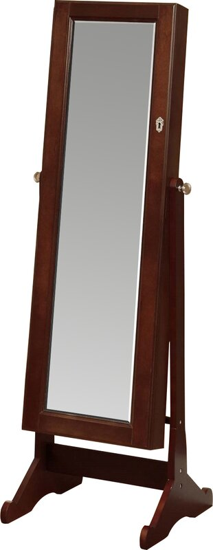 Neilsen Cheval Mirror Jewelry Armoire with Mirror Reviews Joss