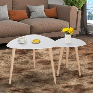 Best Reviews Jessie Wooden 2 Piece Nesting Tables By George Oliver