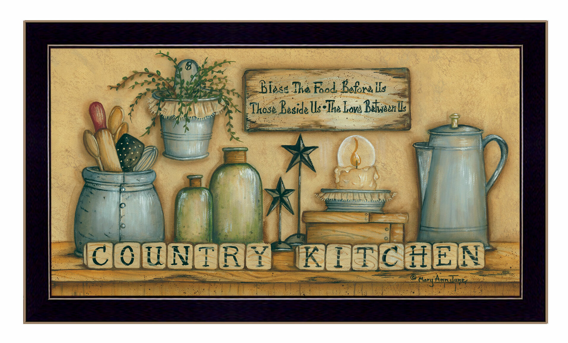 Trendy Decor 4u Country Kitchen Framed Graphic Art Print Reviews