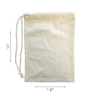 LA Linen Drawstring Storage Bag (Set of 12)