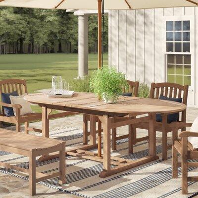 Strange Summerton Teak Extendable Solid Wood Dining Table Download Free Architecture Designs Grimeyleaguecom