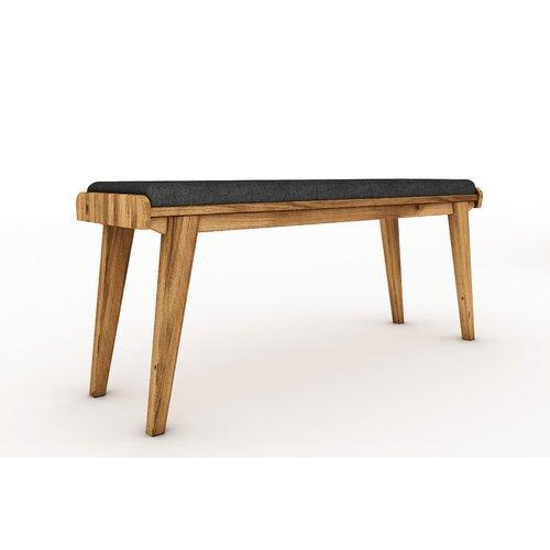 Sitzbank Degraff aus Holz Corrigan Studio Farbe: Wildeiche| Größe: 53 cm H x 164 B x 36 cm T | Küche und Esszimmer > Sitzbänke > Einfache Sitzbänke | Corrigan Studio
