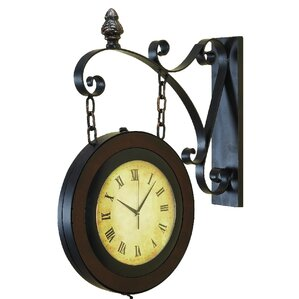 shop double sided hanging wall clock