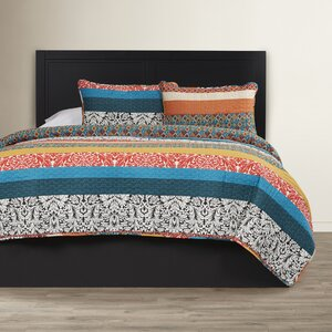 Zehnder Cotton 3 Piece Reversible Coverlet Set