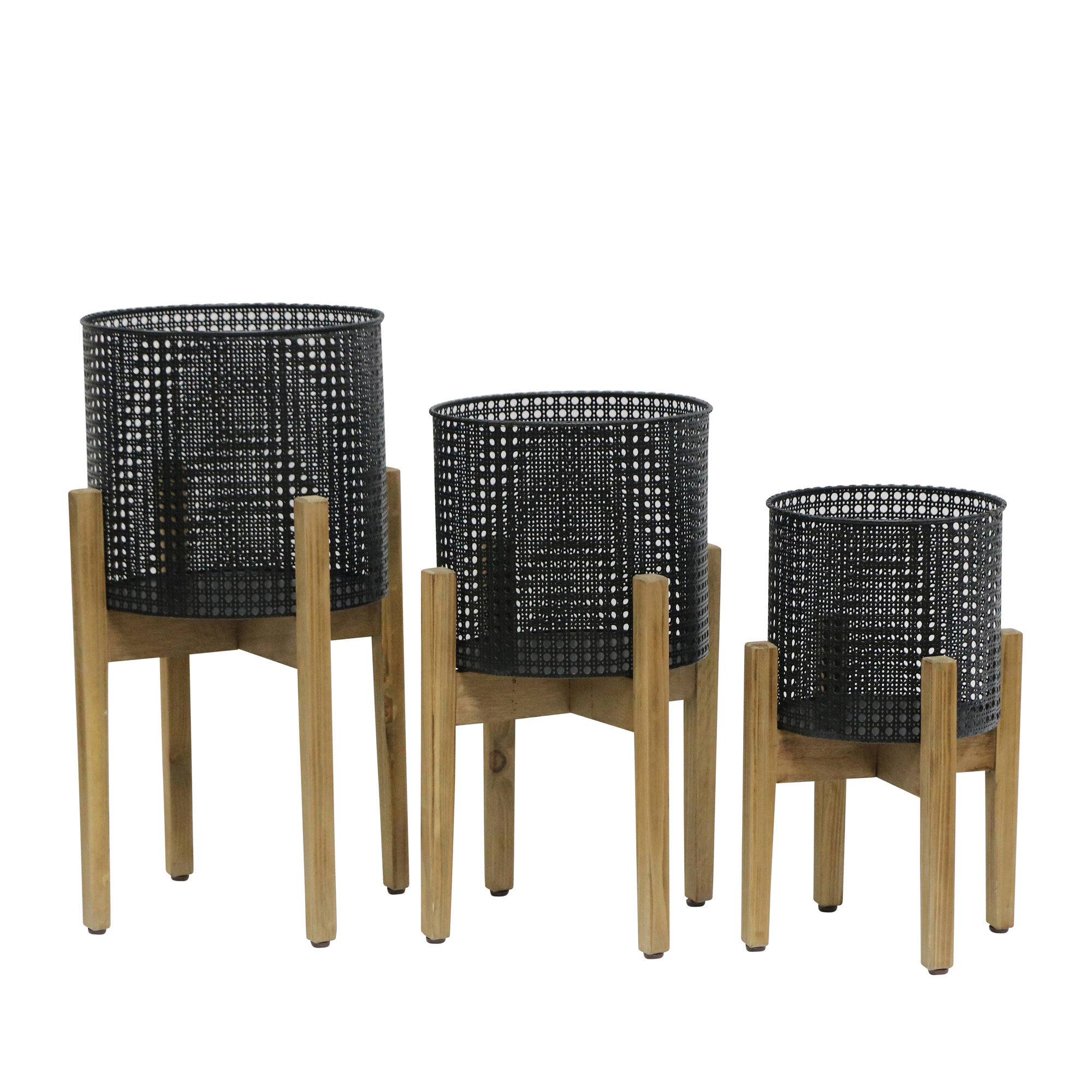 Marhta 3 Piece Metal Pot Planter Set Allmodern