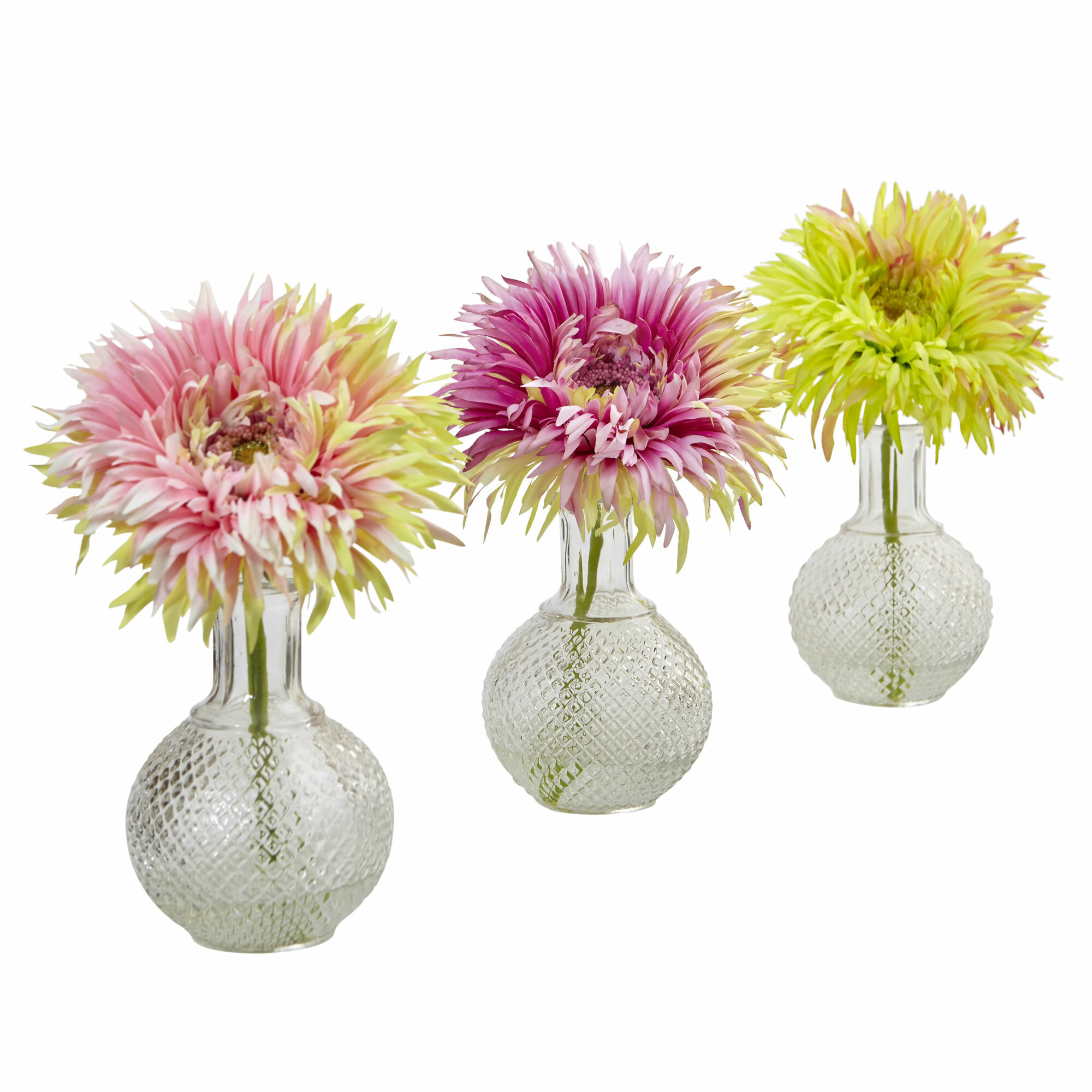 Nearly Natural Daisy Floral Arrangements In Decorative Vase Wayfair