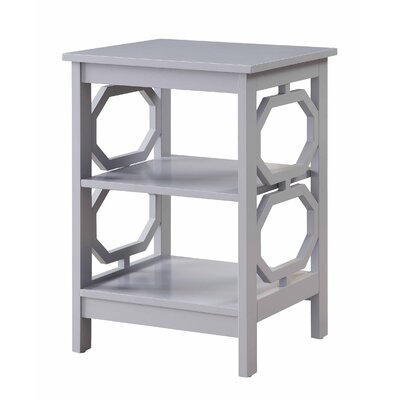 Ardenvor End Table Table Top Color: Gray, Table Base Color: Gray by Beachcrest Home