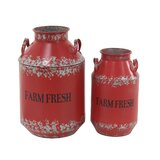 Audubon Farm Fresh 2 Piece Milk Can Set