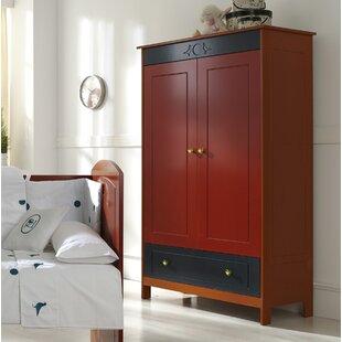 Lonny Wood 2 Door Wardrobe By Harriet Bee