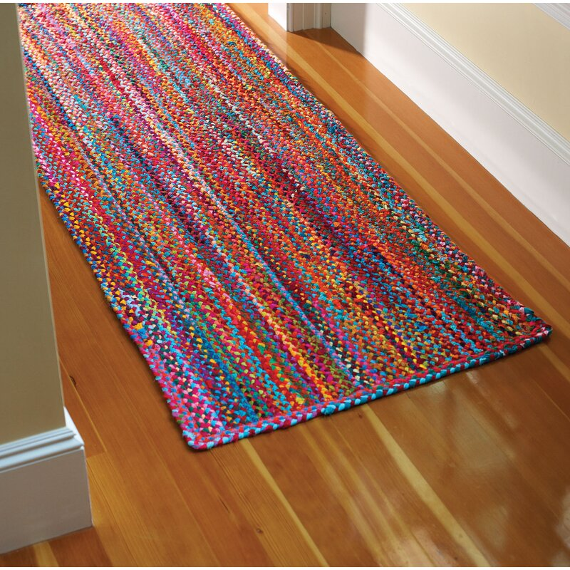 Hflt Carnivale Abstract Hand Braided Cotton Red Area Rug Reviews Wayfair