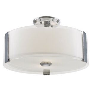 Petro 3-Light Semi Flush Mount..