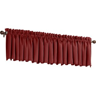 Red Valances Kitchen Curtains