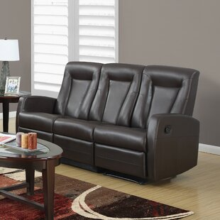 Bonded Leather Reclining Sofa by Monarch Specialties Inc.