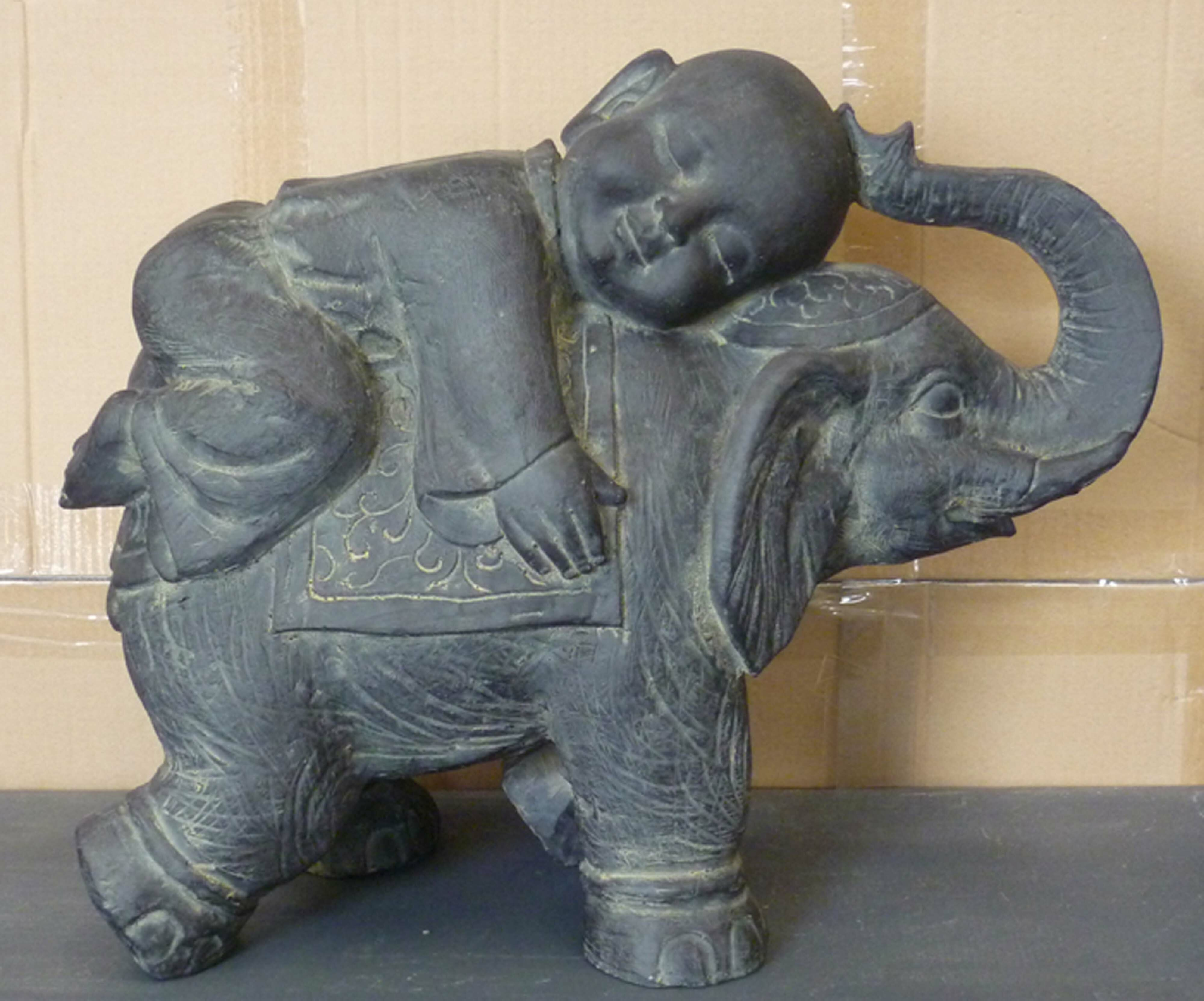 Elephant Home Furnishings Decor Ornament Outdoor Indoor Statue Animals Decor