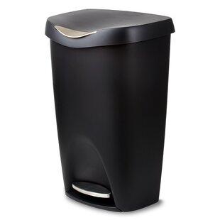 Umbra Plastic 13 Gallon Step On Trash Can