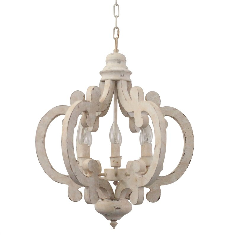 Kacie 6 - Light Lantern Geometric Chandelier