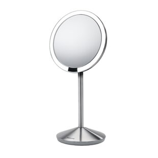 Price Check Sensor Makeup Mirror 5 Round, 10x Magnification, Stainless Steel By simplehuman