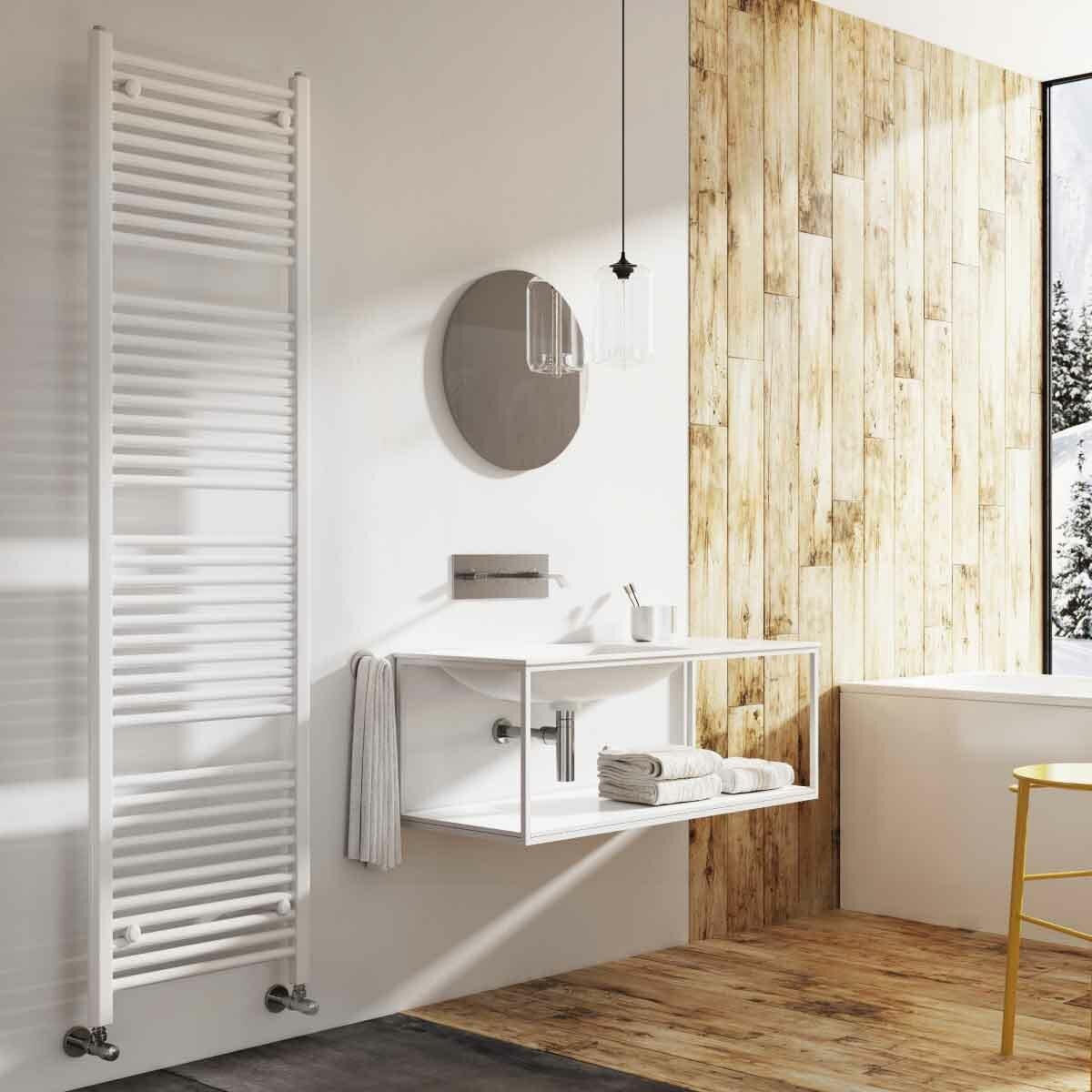 Akenside Vertical Straight Towel Rail Radiator