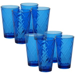 Diamond Acrylic 20 Oz. Water/Juice Glass (Set of 8)