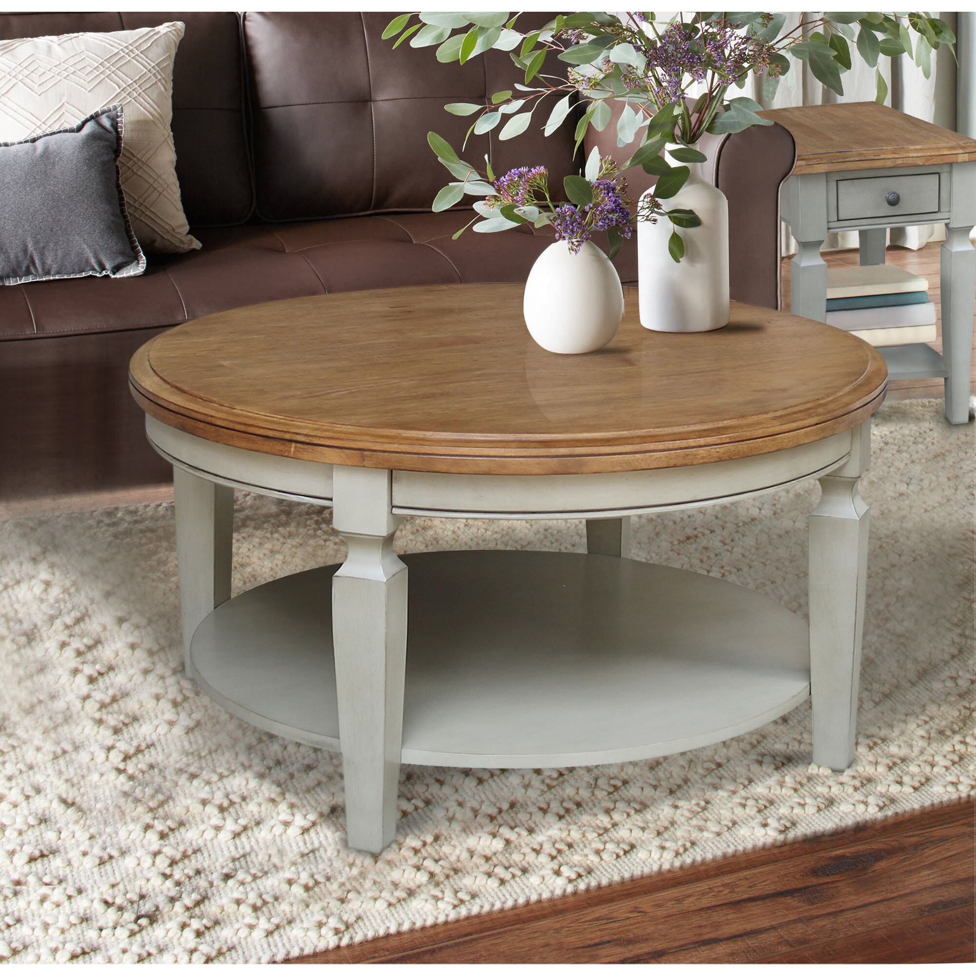 August Grove Christos Solid Wood Coffee Table With Storage Wayfair