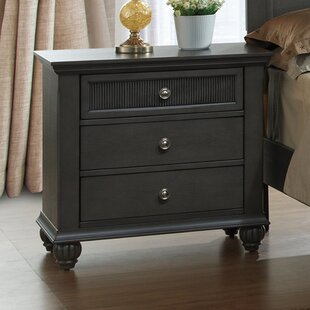 Daniel 3 Drawer Nightstand by Charlton Home