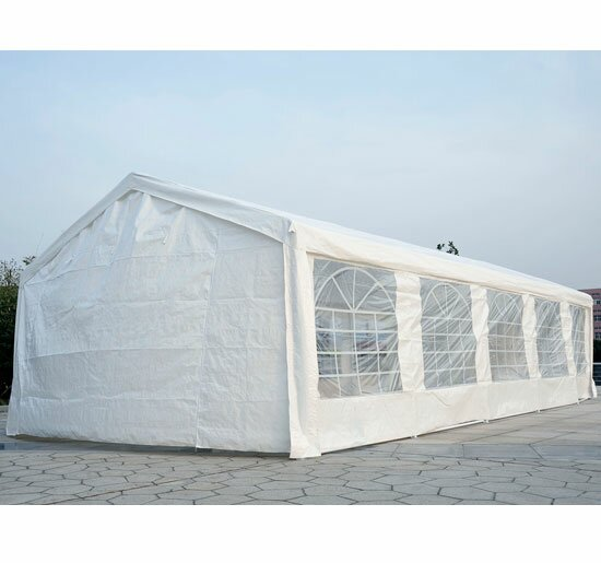 Outsunny Heavy Duty Carport 16 Ft. W x 32 Ft. D Steel Party Tent ...