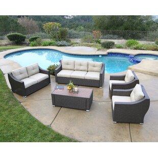 Brayden Studio Suai 5 Piece Sofa Seating Group with Cushions