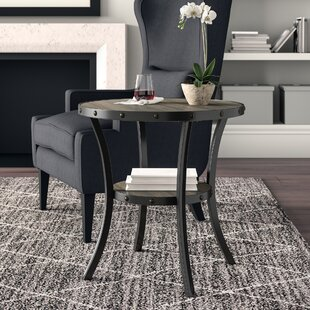 Haysi Espresso End Table by Greyleigh