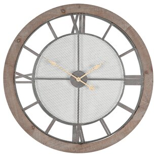 c6cf8f56170f Coquelicot Oversized Round 80cm Wall Clock. by Lily Manor