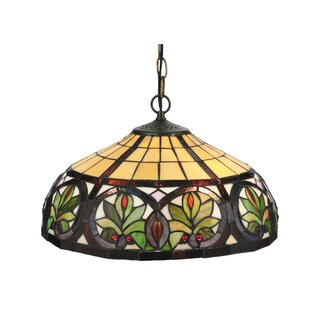 Tiffany Nouveau 2-Light Inverted Pendant by Meyda Tiffany