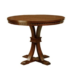 Cliffside Round Counter Height Solid Wood Dining Table Bay Isle Home