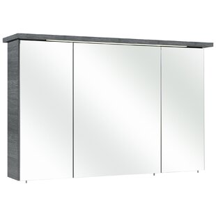 Review Alika 115 X 72cm Mirrored Wall Mounted Cabinet