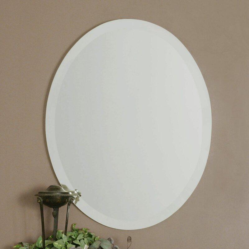 Three Posts Weatherford Frameless Vanity Traditional Beveled Wall Mirror Reviews Wayfair
